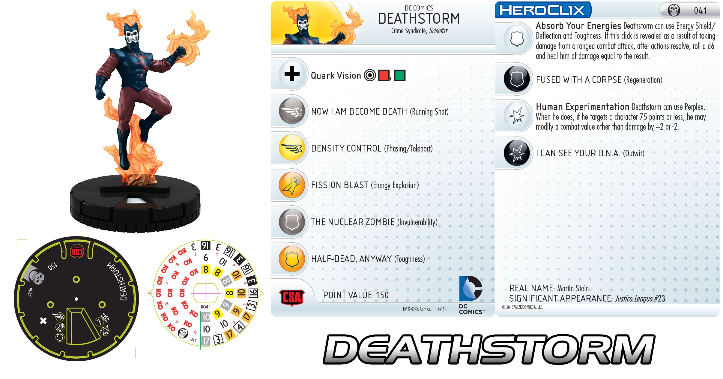Deathstorm HeroClix from DC HeroClix: Justice League Trinity War
