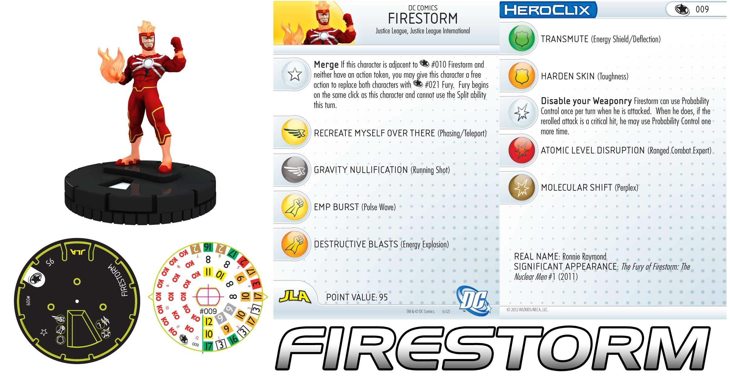 DC Heroclix Justice League New 52 Firestorm 010
