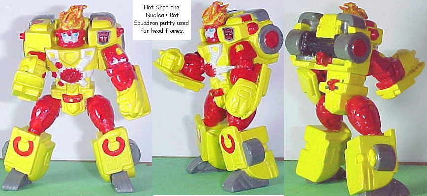 Hot Shot the Nuclear Bot - Firestorm custom Transformer