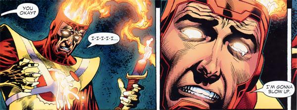 Identity Crisis #5 - Ronnie Raymond Firestorm death