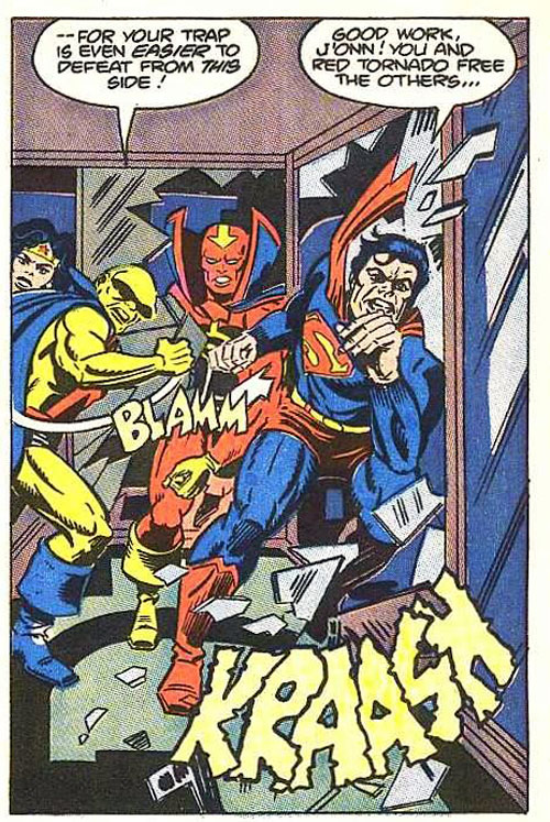 Jack Kirby pencils and Greg Theakston inks from Super Powers #6