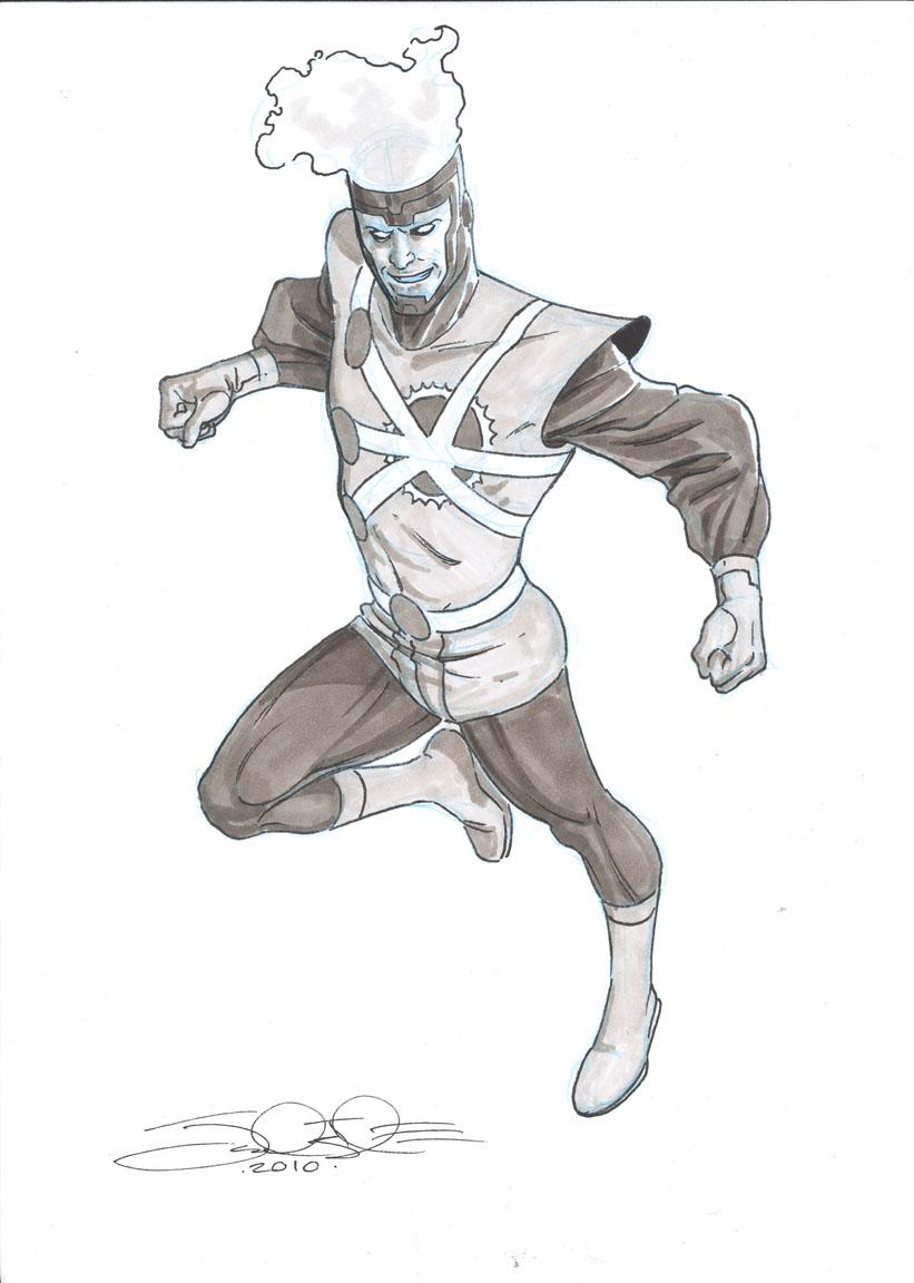Jamal Igle Ronnie Raymond Firestorm sketch