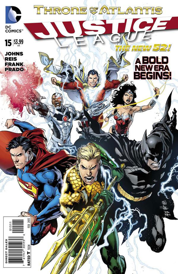 Justice League #15 cover by Ivan Reis, Joe Prado, and Rod Reis