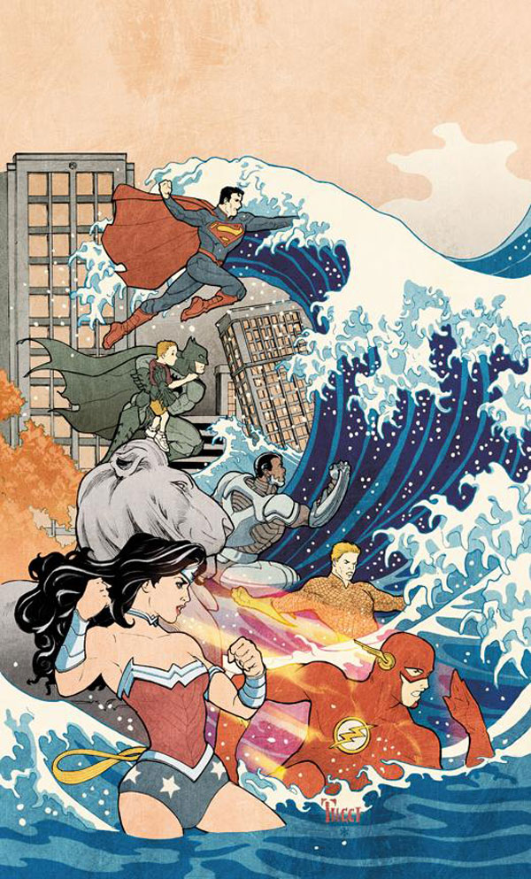 Justice League #15 cover by Billy Tucci and Hi-Fi