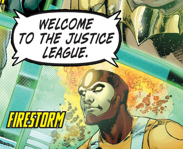 Justice League #16 by Geoff Johns, Ivan Reis, Joe Prado, and Rod Reis - Firestorm joins the Justice League