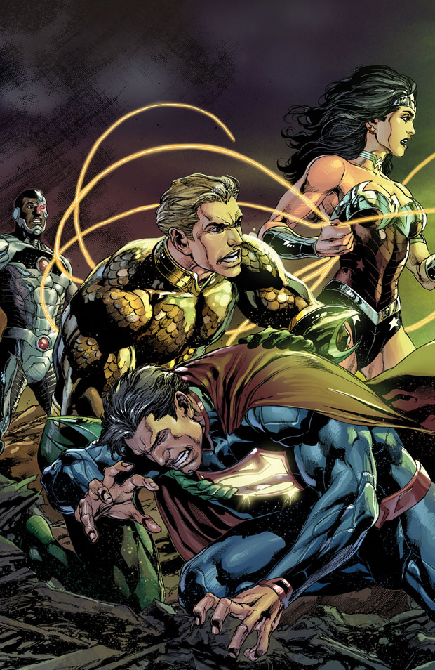Justice League #19 cover by Ivan Reis, Joe Prado, and Rod Reis