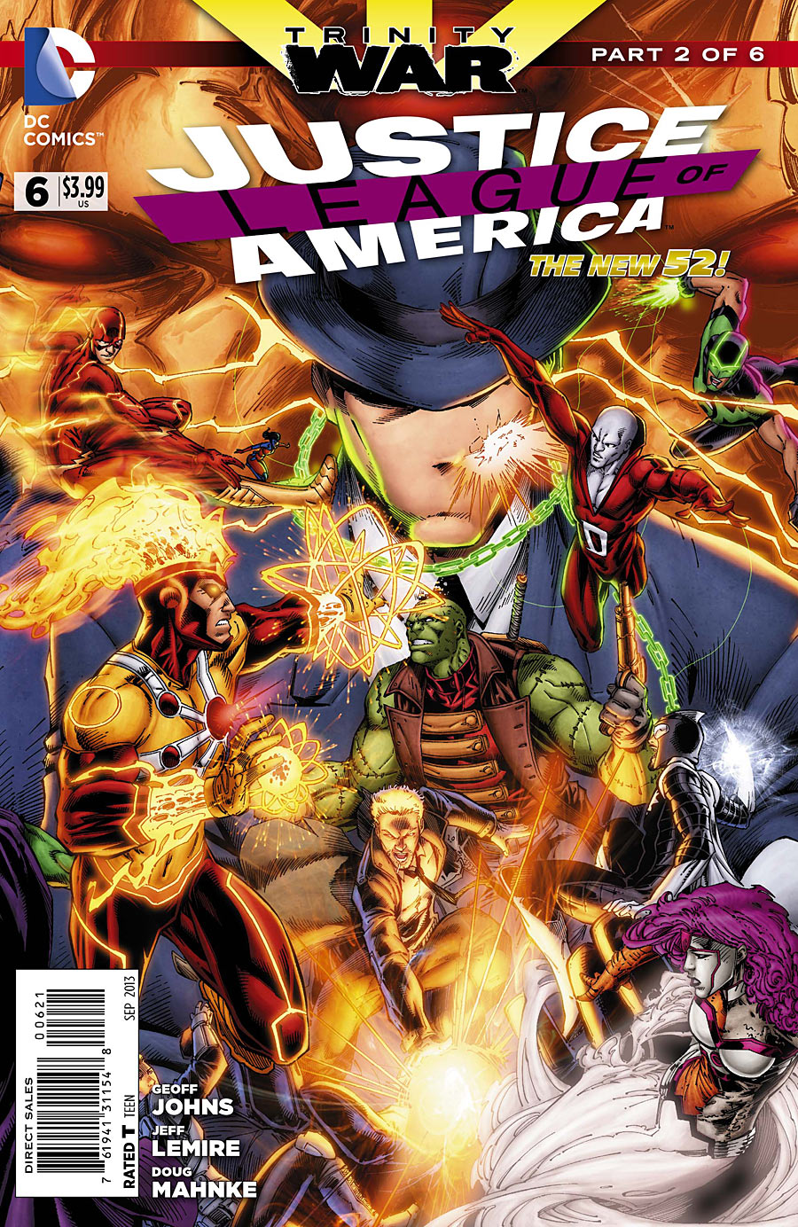 Justice League of America #6 variant cover by Brett Booth, Norm Rapmund, and Andrew Dalhouse