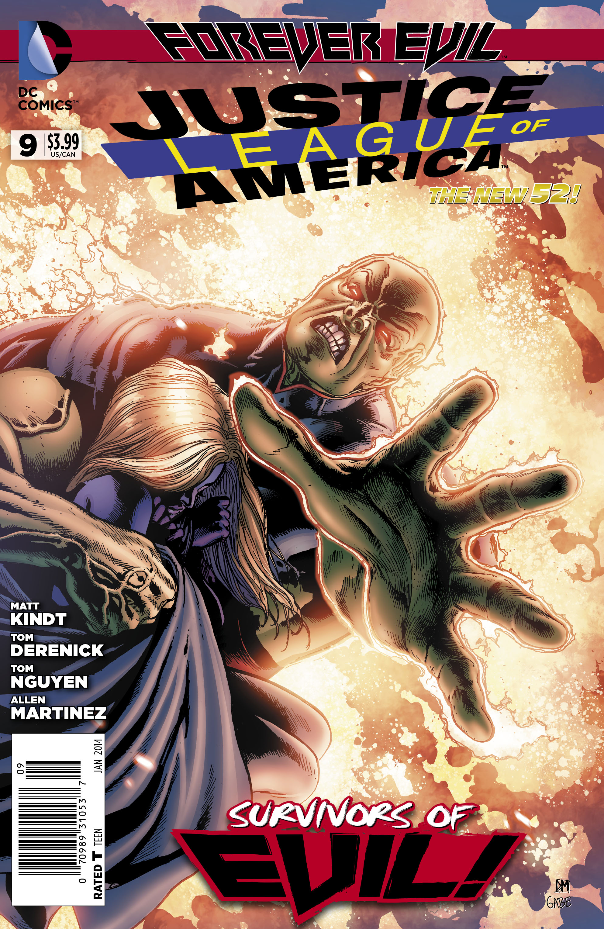 Justice League of America #9 cover by Doug Mahnke