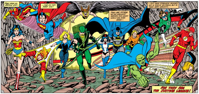 Justice League of America #200 team by George Perez