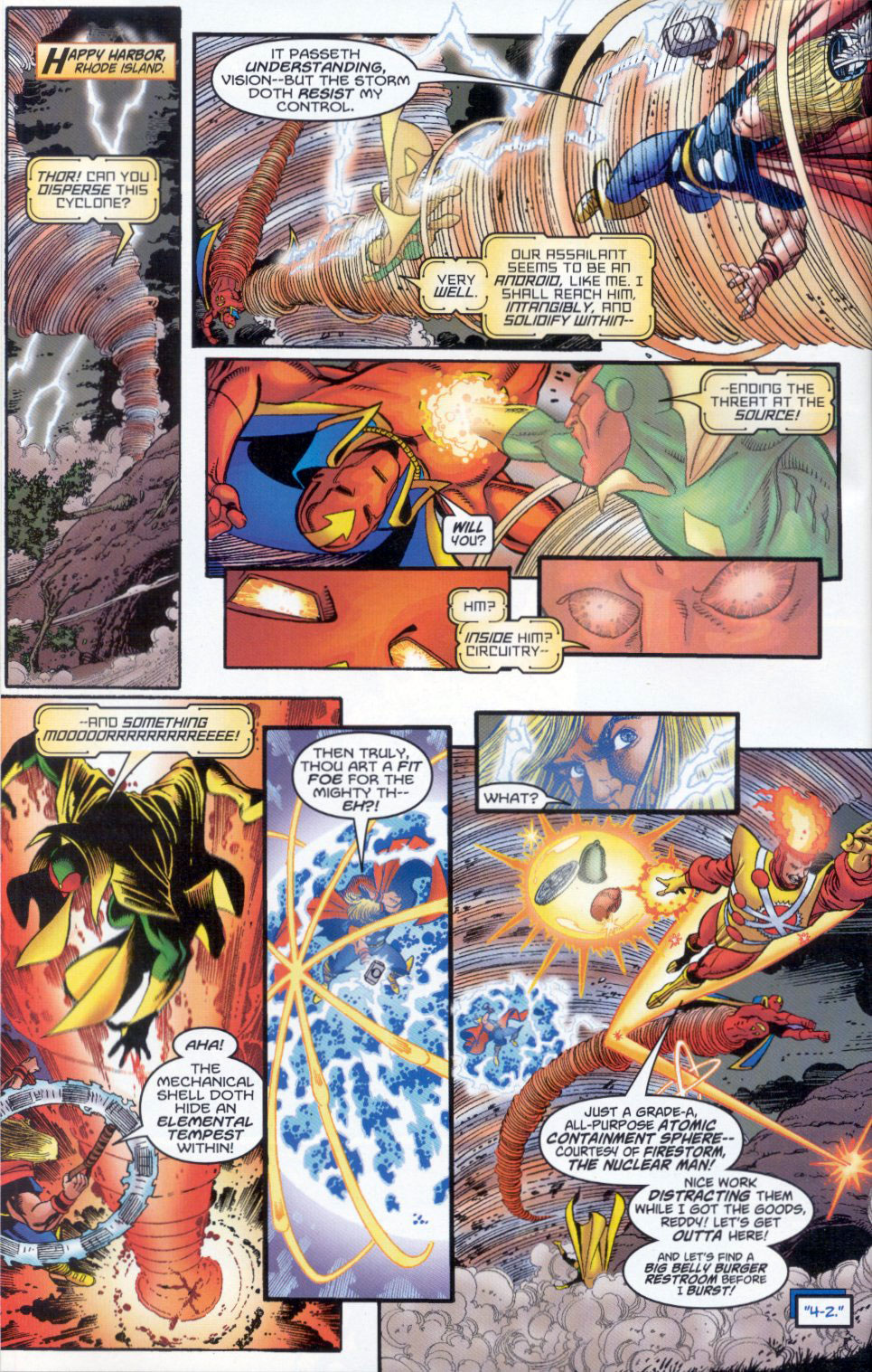 Firestorm vs Thor in Avengers/JLA #2