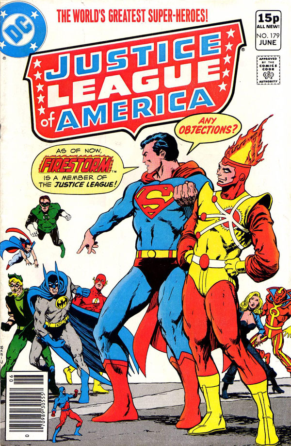 Justice League of America #179 - Firestorm joins the JLA