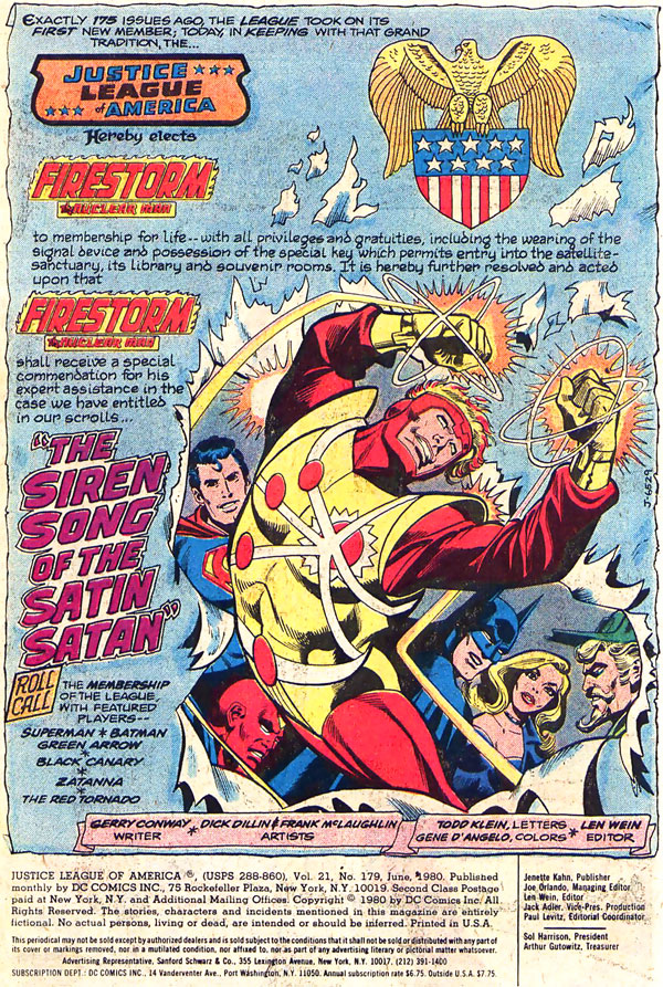 Justice League of America #179 by Gerry Conway, Dick Dillin, and Frank McLaughlin