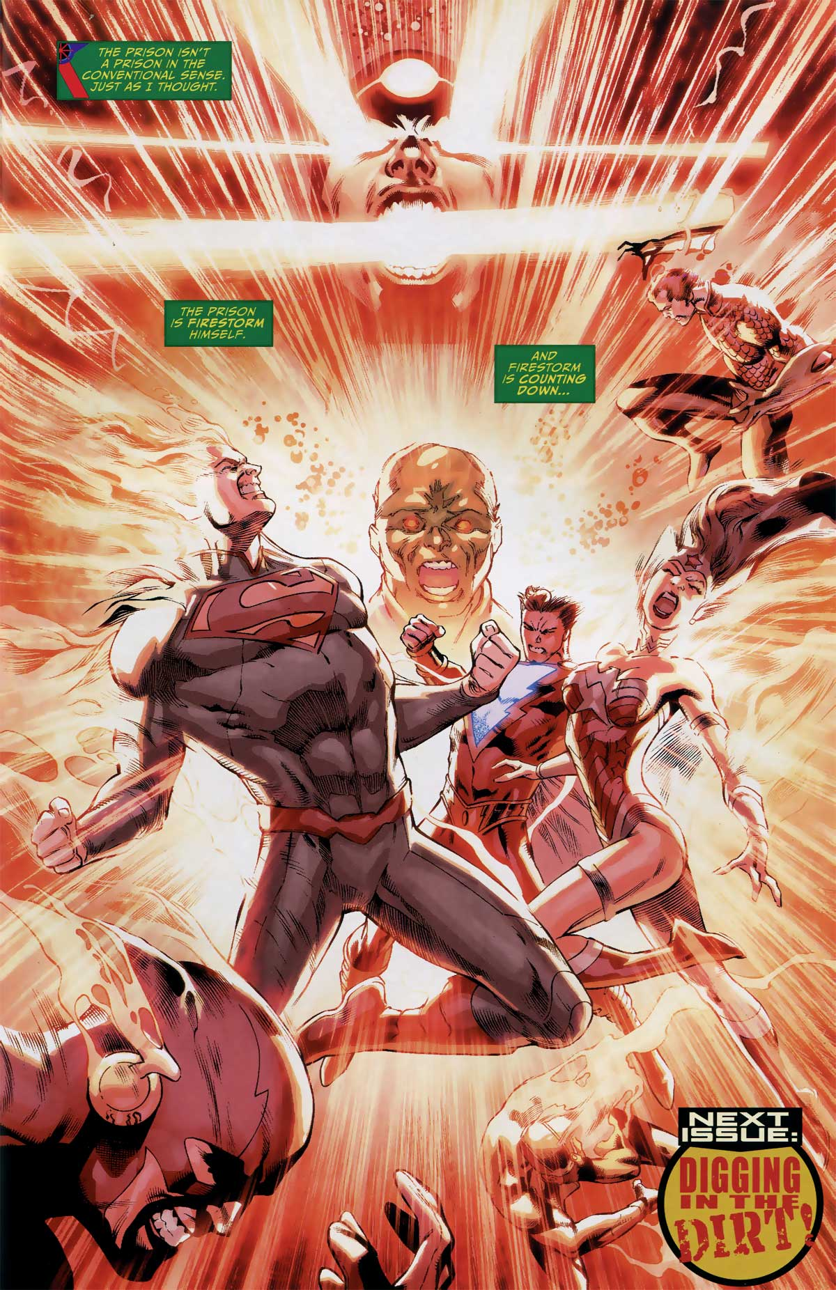 Justice League of America #10 featuring Firestorm