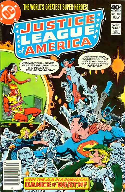 Justice League of America #180 featuring Satin Satan