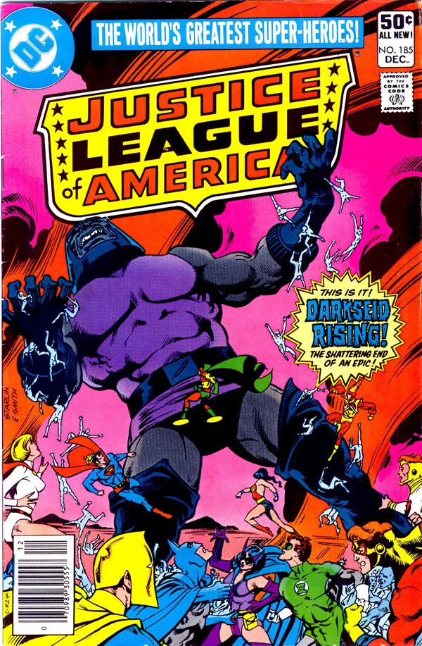Justice League of America #185 cover by Jim Starlin and Bob Smith