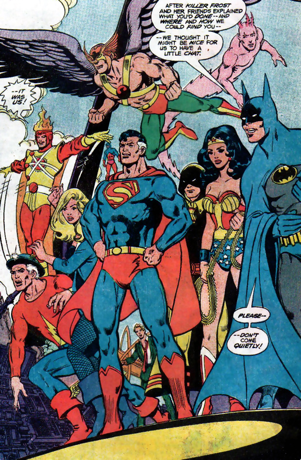 Justice League of America #197 featuring the Justice Society by Gerry Conway and George Perez
