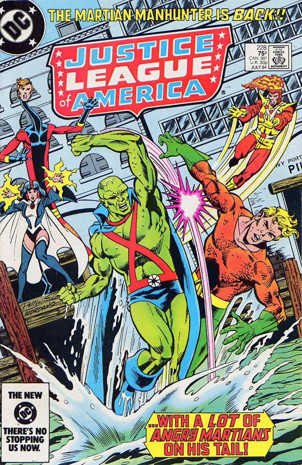 Justice League of America #228 cover by Chuck Patton and Dick Giordano