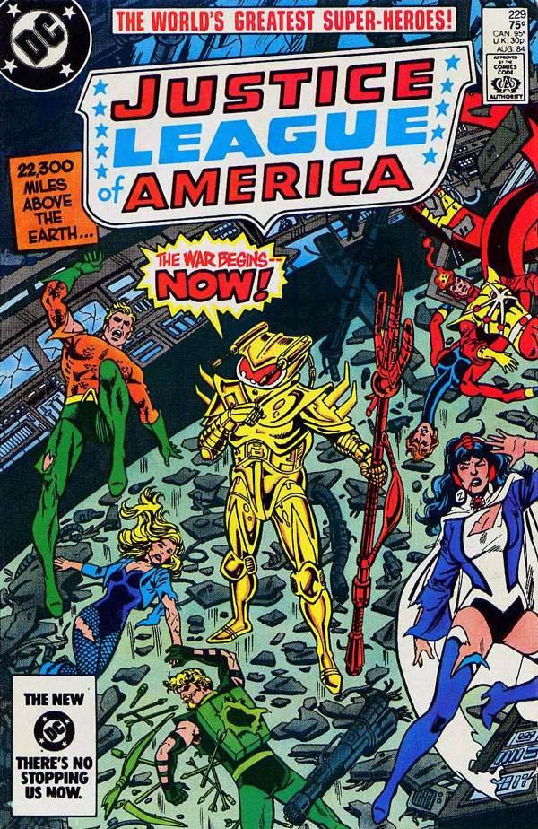 Justice League of America #229 cover by Chuck Patton and Dick Giordano