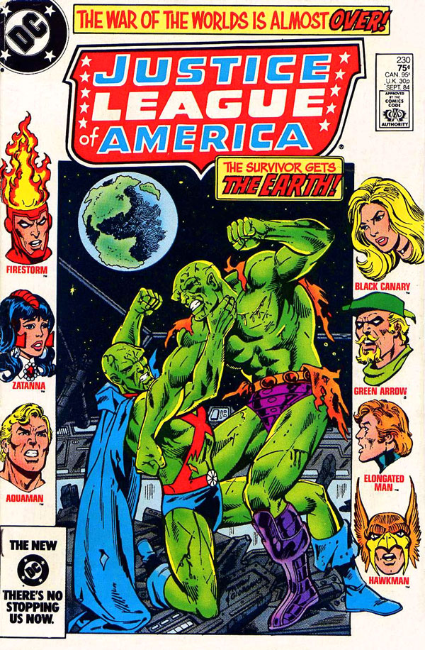 Justice League of America #230 cover by Chuck Patton and Dick Giordano