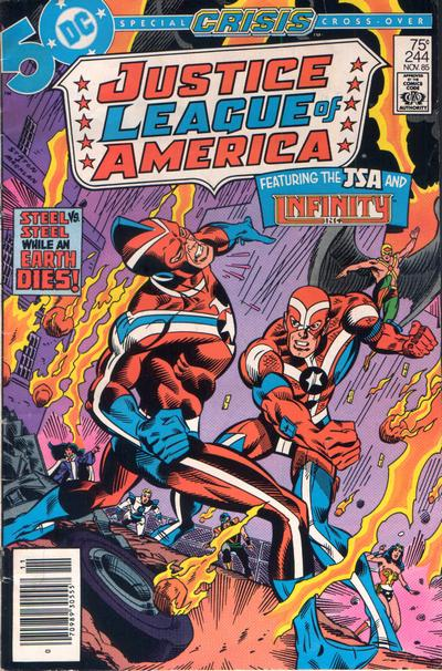Justice League of America #244 cover dated November 1985