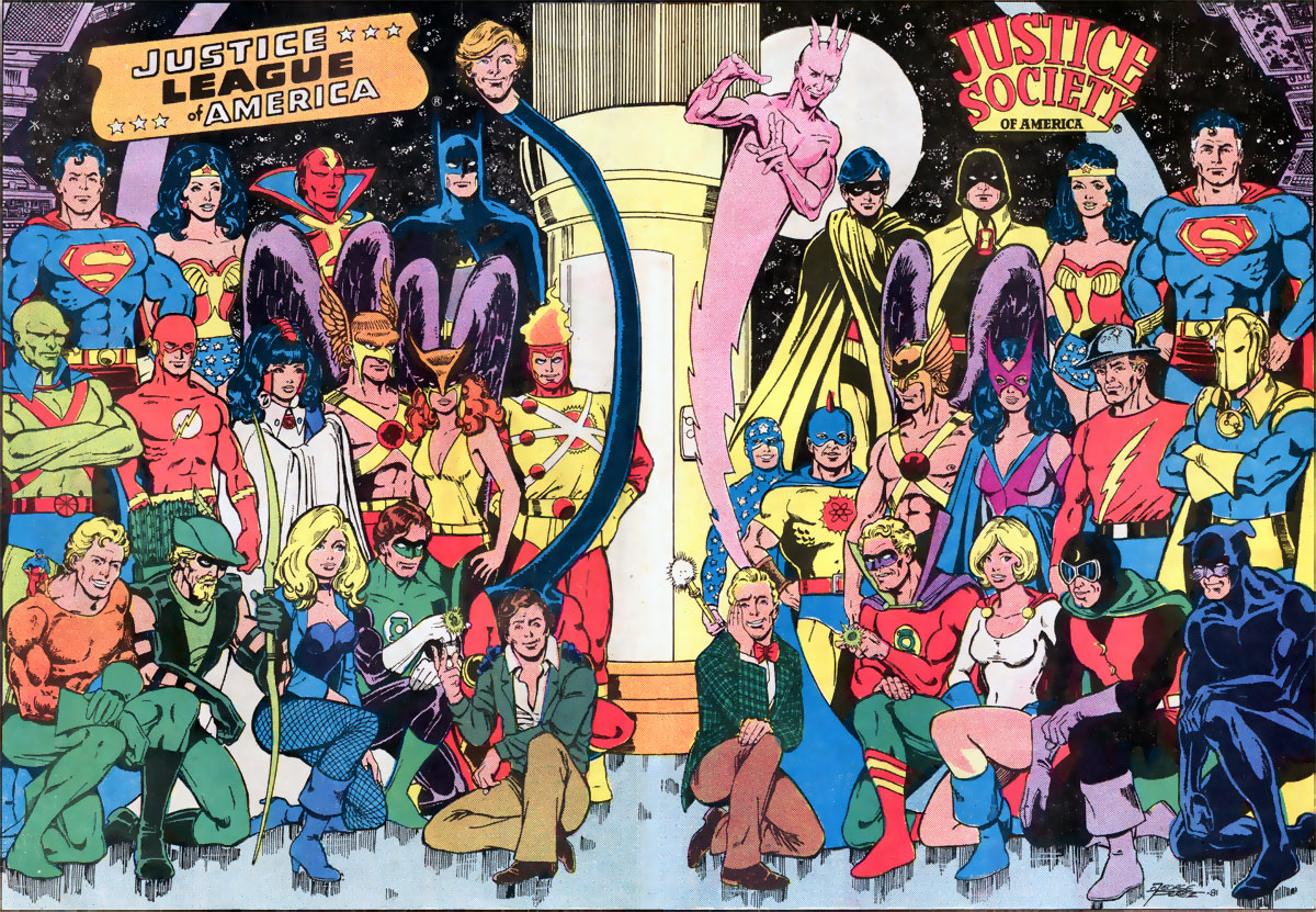 Justice League of America and Justice Society of America by George Perez