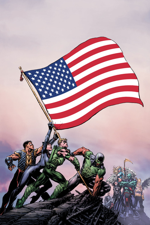 Justice League of America #1 cover by David Finch