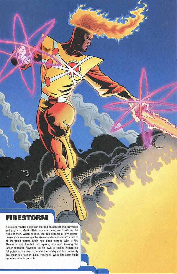 JLA-Z: A Guide to the Worlds Greatest Super-heroes - Firestorm