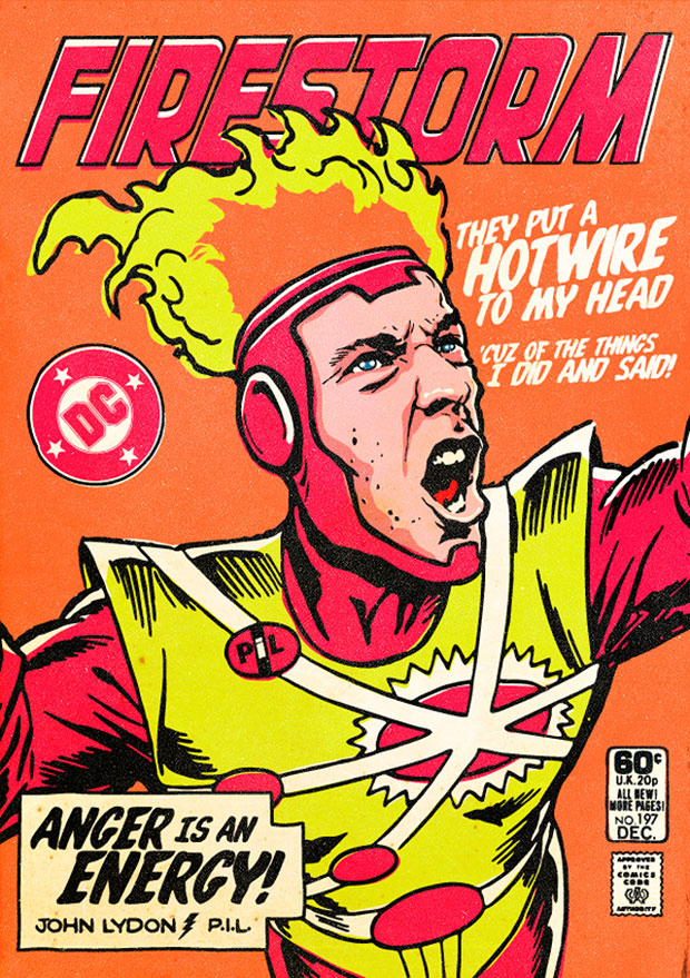Johnny Rotten as Firestorm by Billy the Butcher