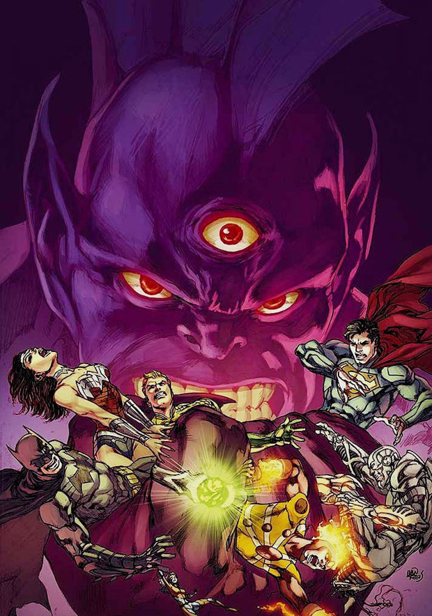 Justice League #20 cover by Ivan Reis and Joe Prado
