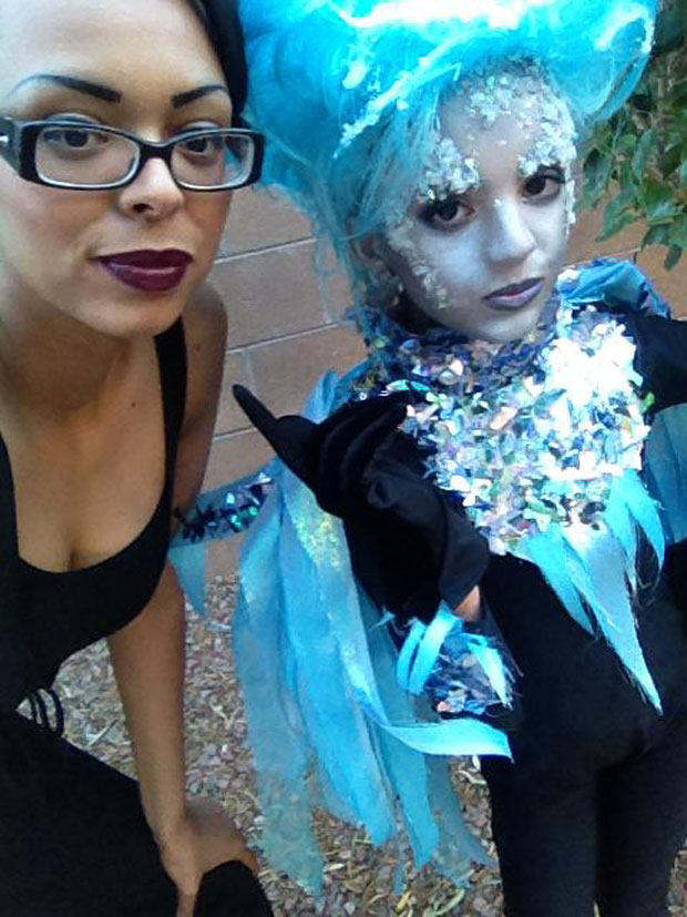 Killer Frost Cosplay Kid and Mom