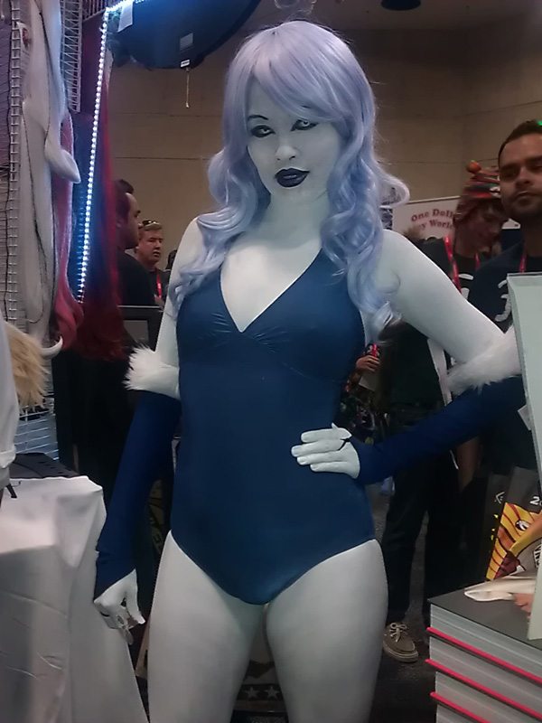 Killer Frost cosplay at San Diego Comic-Con SDCC