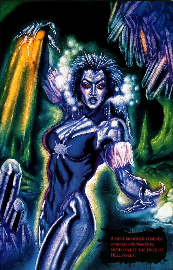 Killer Frost by John Hanely from DC's 1996 Rogues Gallery