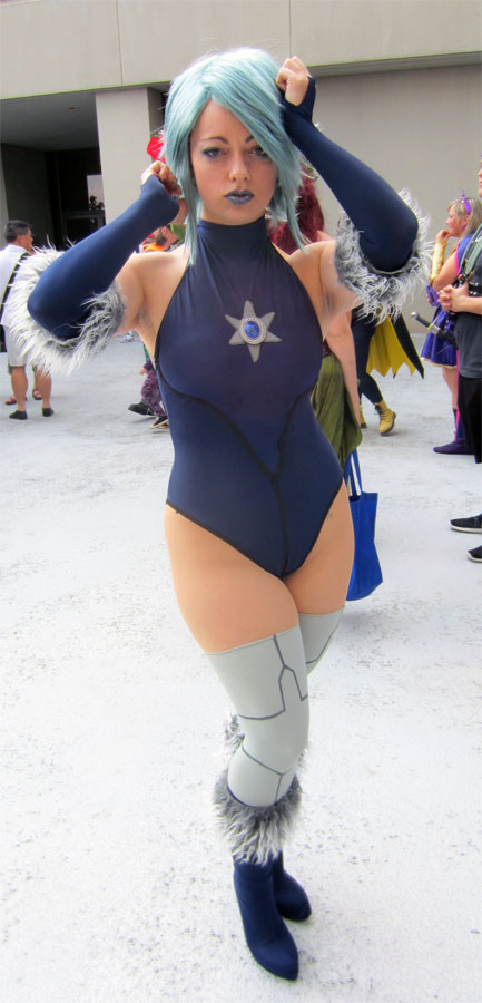Brandy Gibson cosplay as Killer Frost from Batman Assault on Arkham at Dragon Con 2015