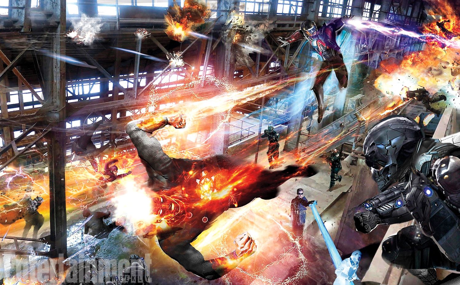 CW Legends of Tomorrow Concept Art featuring Firestorm