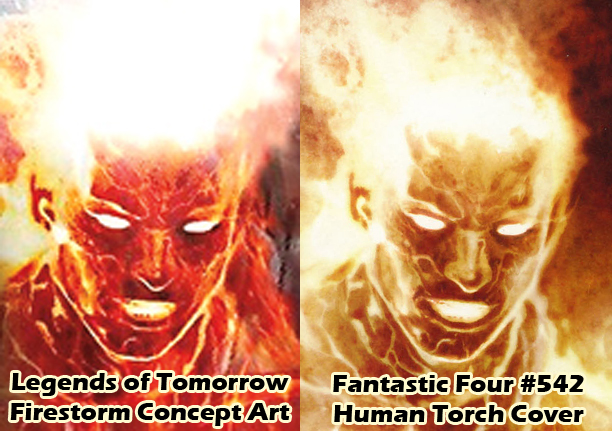 Legends of Tomorrow concept art and Fantastic Four #542