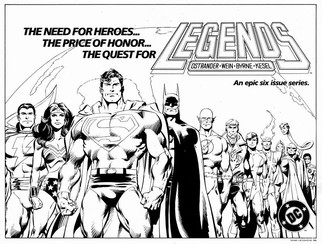 Legends advertisement drawn by John Byrne