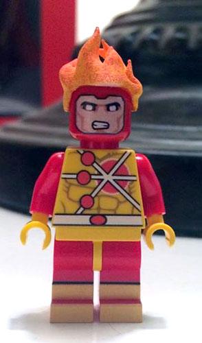 Firestorm custom Lego minifigure owned by Travis Fowler