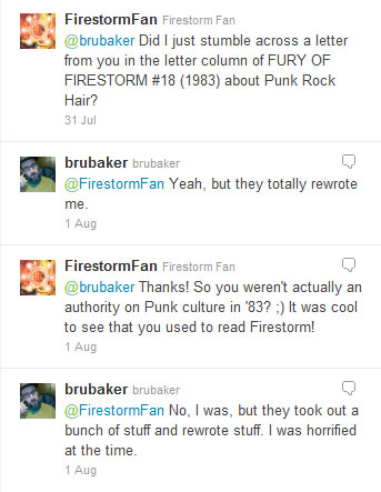 Ed Brubaker in Fury of Firestorm #18 discussion on Twitter