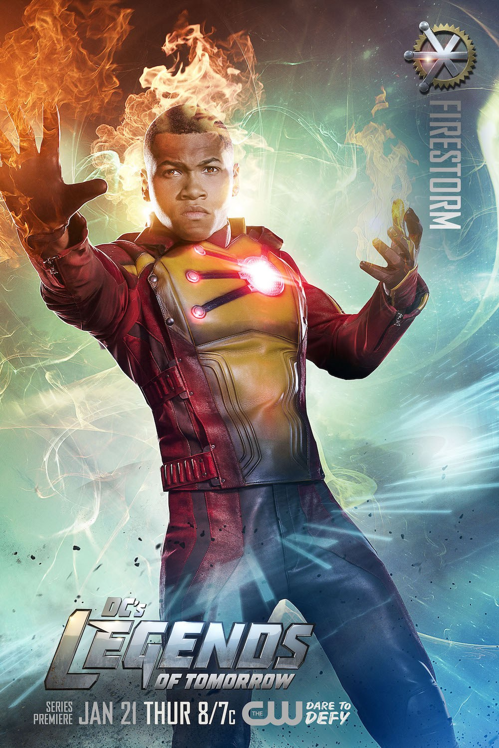 Legends of Tomorrow Firestorm Poster with Franz Drameh