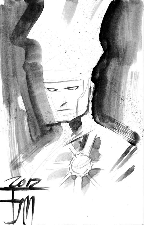 Francis Manapul draws Firestorm for Clark Edwards at Phoenix Comicon 2012