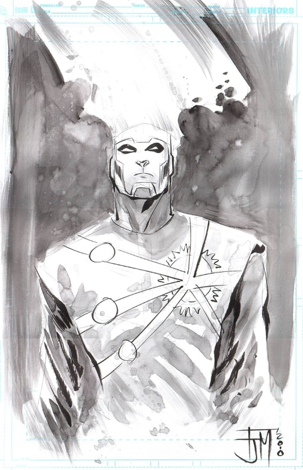 Francis Manapul draws Firestorm for Jon McGavin at Armageddon con 2010