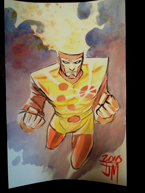 Francis Manapul draws Firestorm for Philip Rutledge at JetCityComicShow