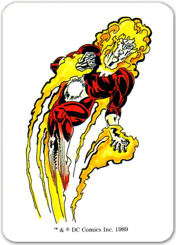 Firestorm from 1989 Mayfair DC Heroes Role-playing Game