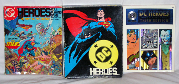 Mayfair Games DC Heroes role-playing game editions