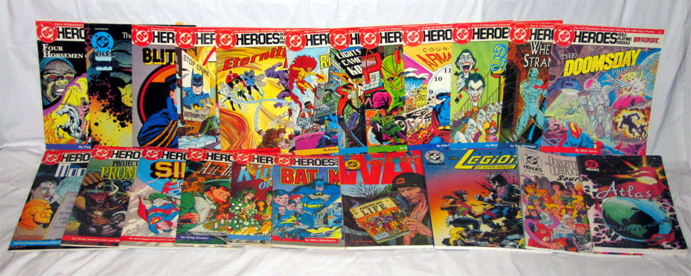Mayfair Games DC Heroes role-playing game sourcebooks and modules