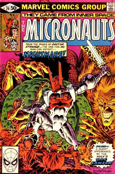 Micronauts #29 cover by Pat Broderick