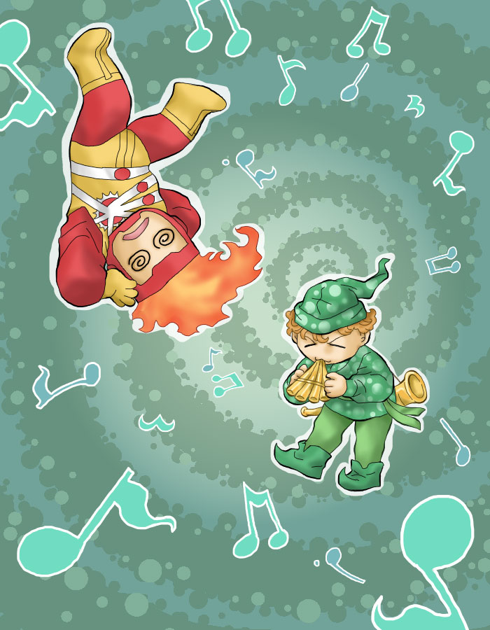 Pied Piper & Firestorm by Nekemeko inspired by Fury of Firestorm #5