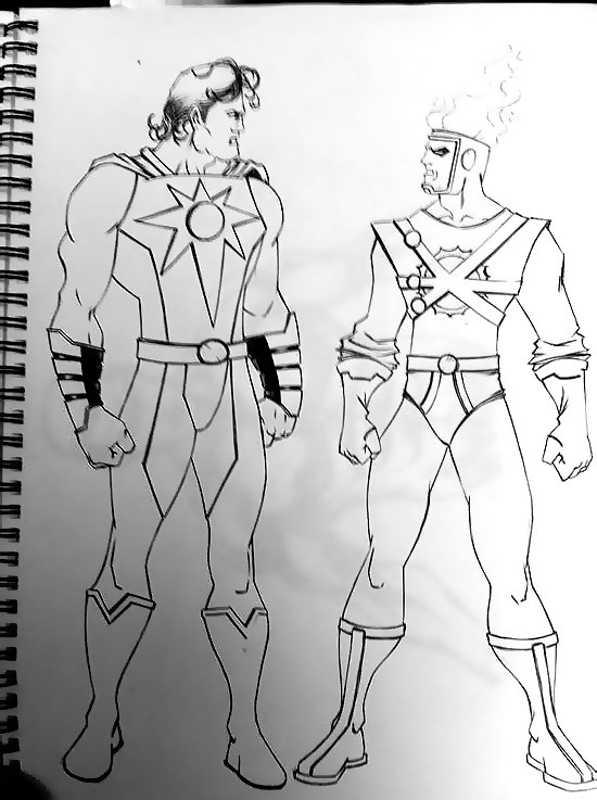 The Nuclear Men by Keith Samra - Nuclear Man from Superman 4 & Firestorm