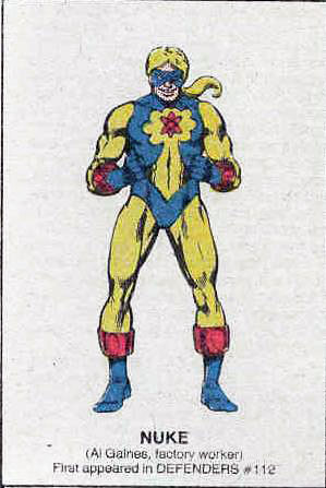Marvel Squadron Supreme Nuke from The Official Handbook of the Marvel Universe
