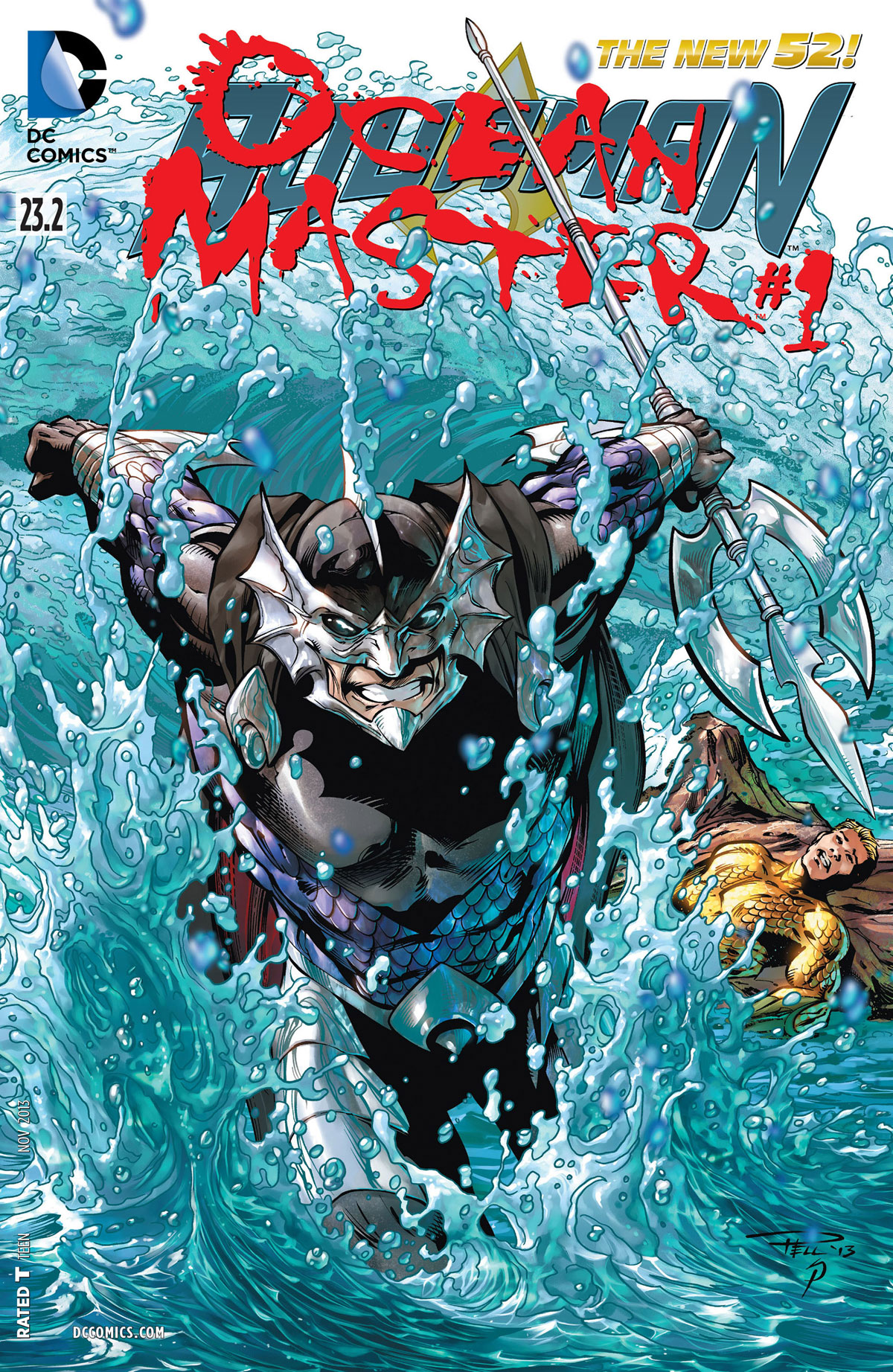 Aquaman #23.2 Ocean Master #1 cover by Paul Pelletier, Sean Parsons, and Rod Reis
